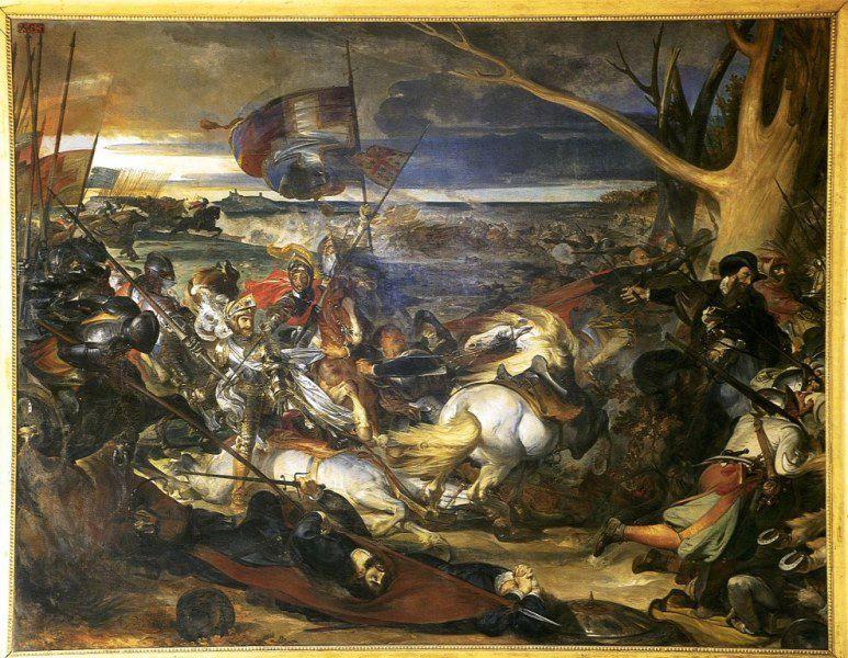 La Bataille de Dreux 19 décembre 1562, tableau de 1846