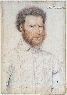 Jean Babou de La Bourdaisière (1511-1569) comte de Sagonne, peint par François Clouet en 1553. Musée Condé au château de Chantilly