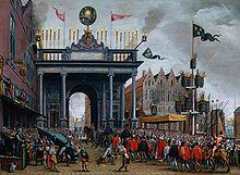 L'entrée de François de Valois à Anvers en 1582