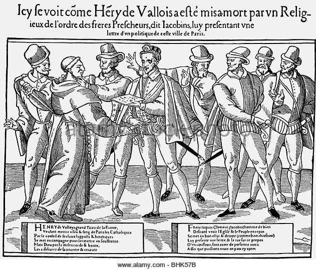 Assassinat d'Henri III par le moine Jacques Clément