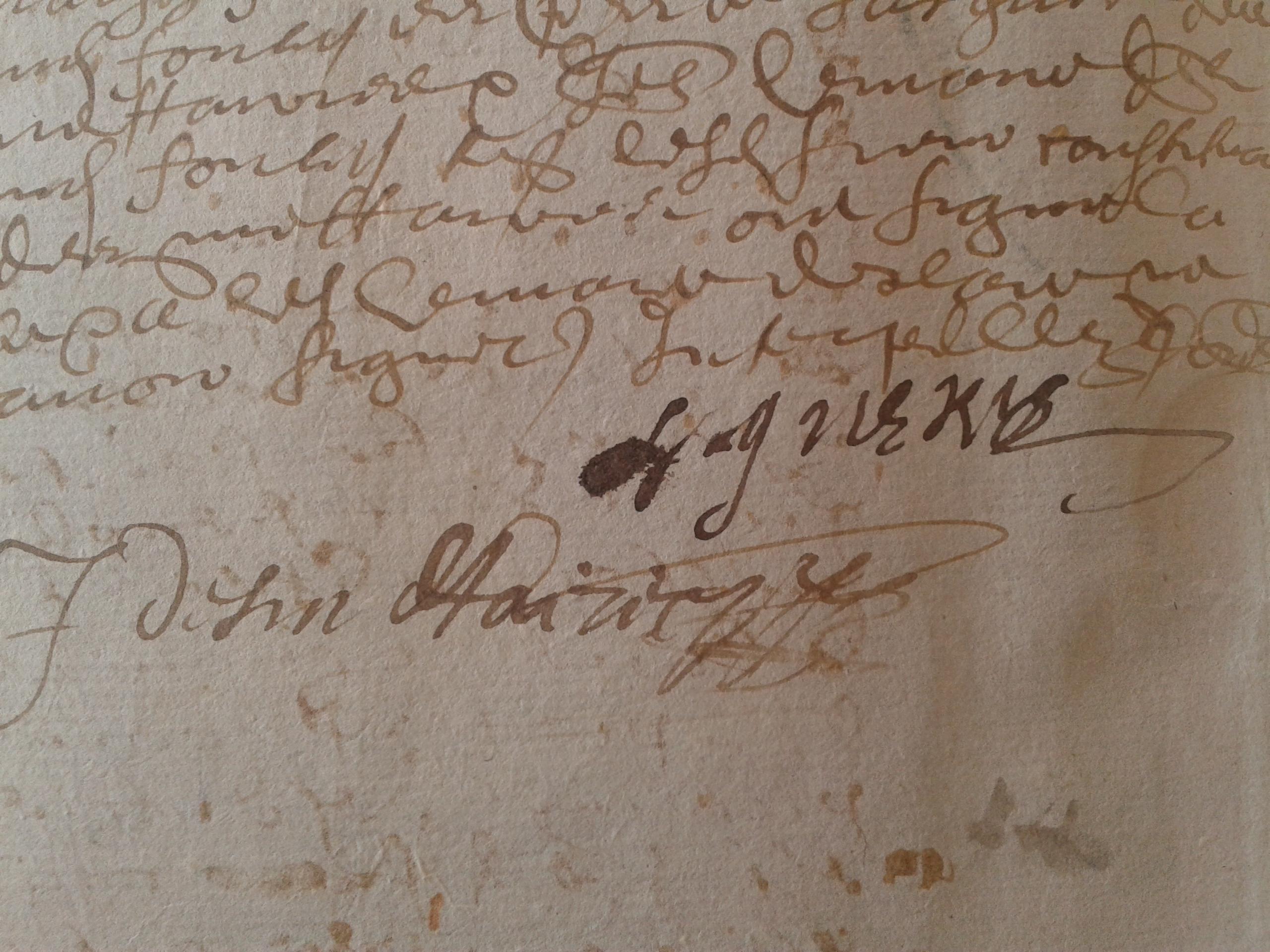 Signature de Théodore des Ligneris en 1630