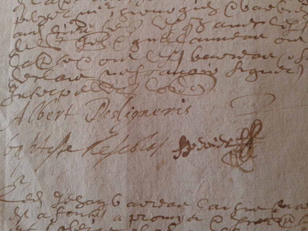 signature d'Albert des Ligneris (Archives départementales d'Eure-et-Loir)