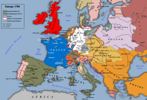 Carte de l'Europe au traité de Ryswick, 1697