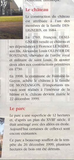 Fontaine la Guyon notice site mairie