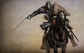 Un chevalier des XIIIe-XIVe siècle (vue d'artiste)