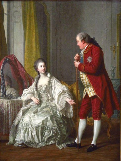 Le marquis de Marigny et sa jeune épouse, en 1769. Peinture de Louis-Michel van Loo.