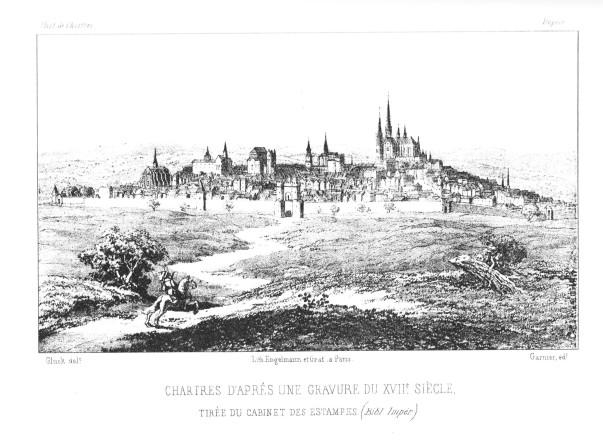 Chartres gravure XVIIe s