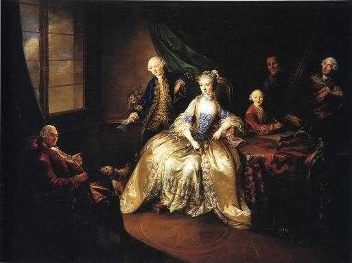 Marianne Camasse et ses deux fils Christian et Guillaume en 1764