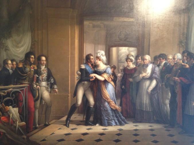 Musée des Beaux-Arts de Chartres, tableau d'Etienne-Barthélémy Garnier (1759-1849): «Entrevue du duc et de la duchesse d'Angoulême», 1823