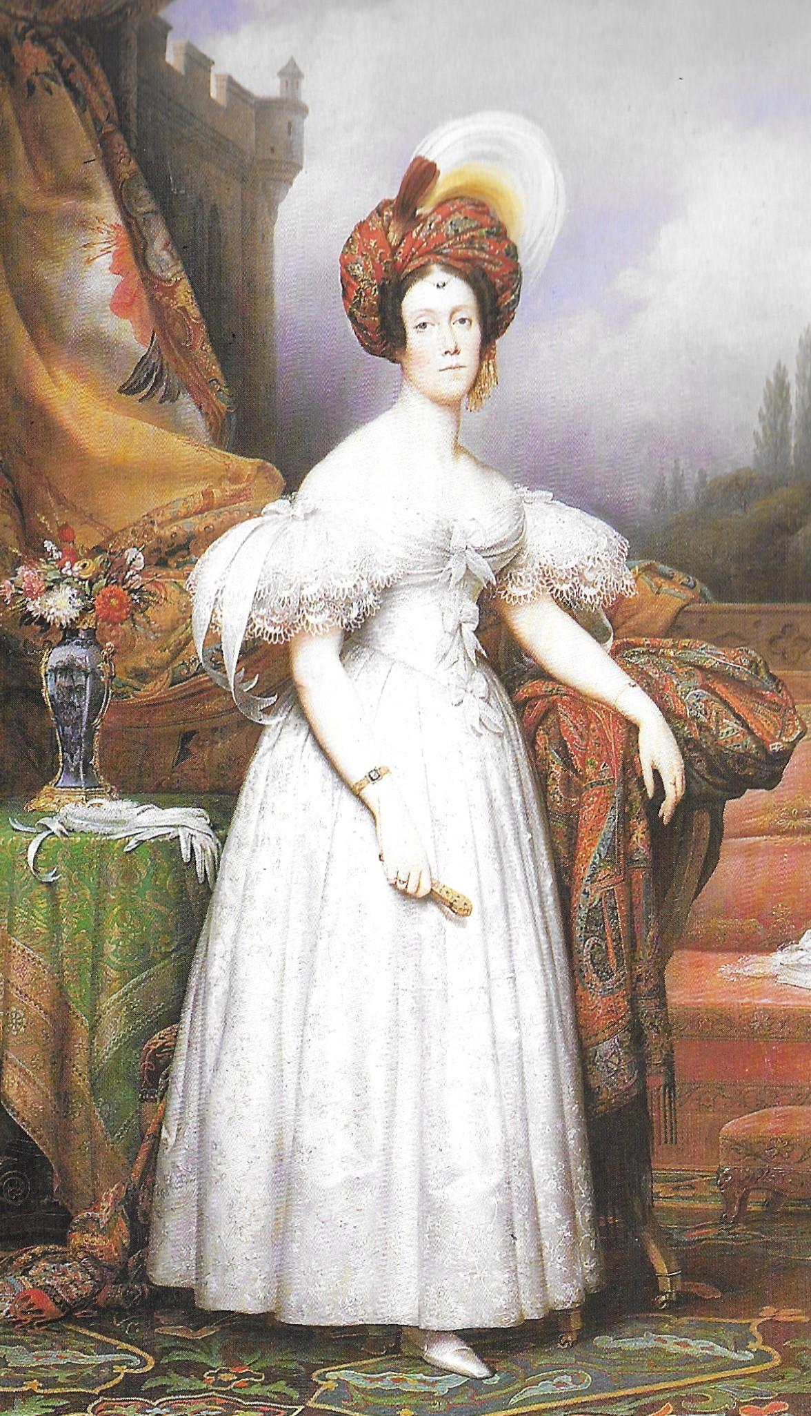 La marquise de Béthisy se rendant à une soirée, 1835, tableau de Ch. Steuben, Musée des Beaux Arts de Lille. Maximilien des Ligneris doit beaucoup fréquenter ces salons mondains où se retrouvent les clans aristocratiques.