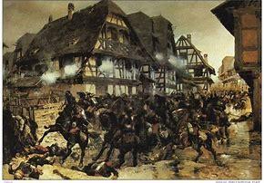 La charge de Morsbronn, 6 août 1870, tableau de Detaille (collections du musée de Woerth)