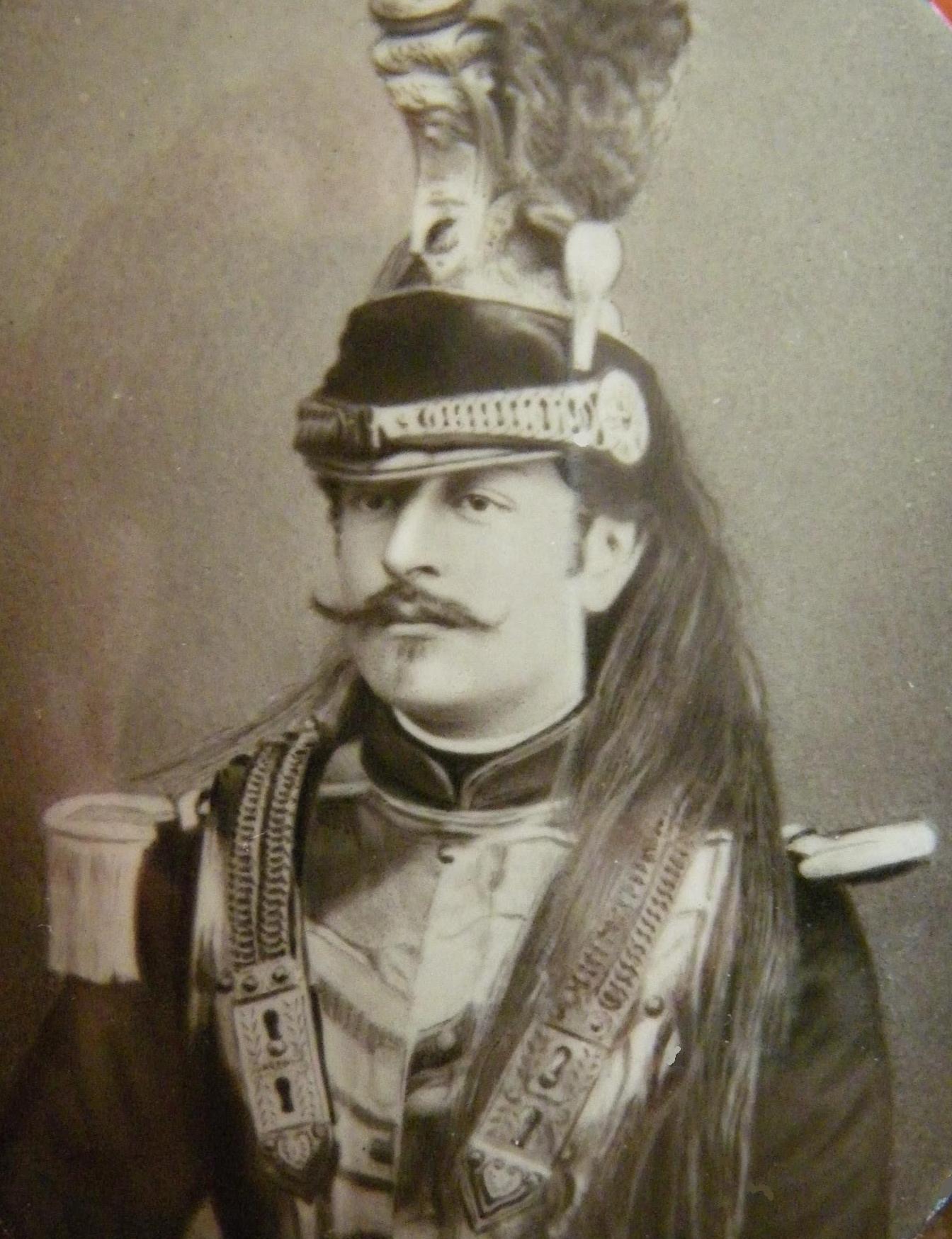Charles des Ligneris en uniforme des Dragons (photo non datée)